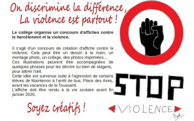 Concours d'affiche contre les violences