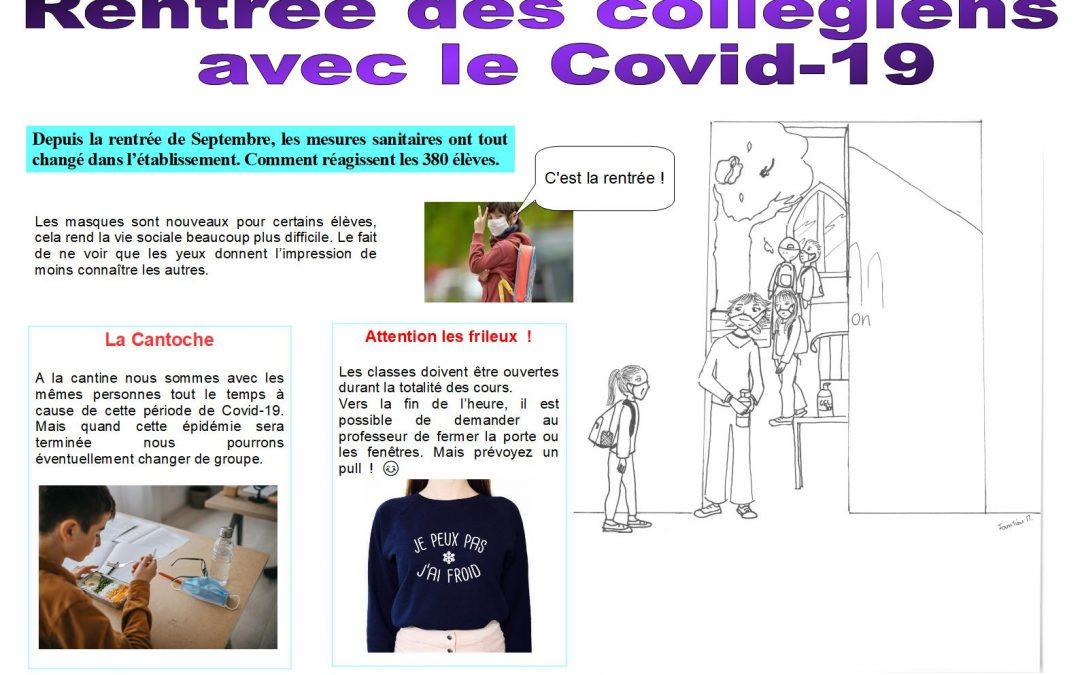 Rentrée des collégiens avec le COVID-19